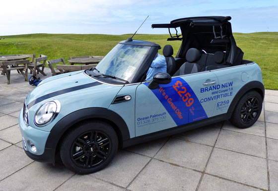 MINI Cooper convertible for only £259 a month.