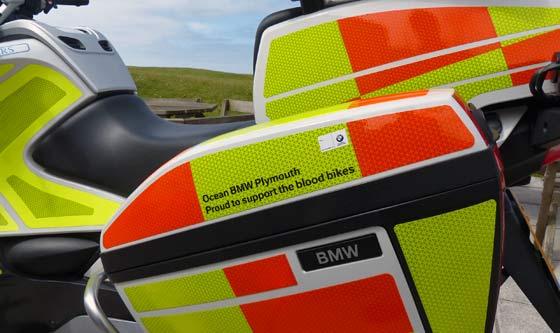 Cornwall's Freewheelers bike provided by Ocean BMW.