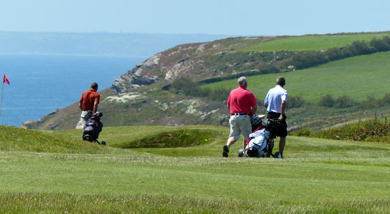 View from Mullion Golf Club.
