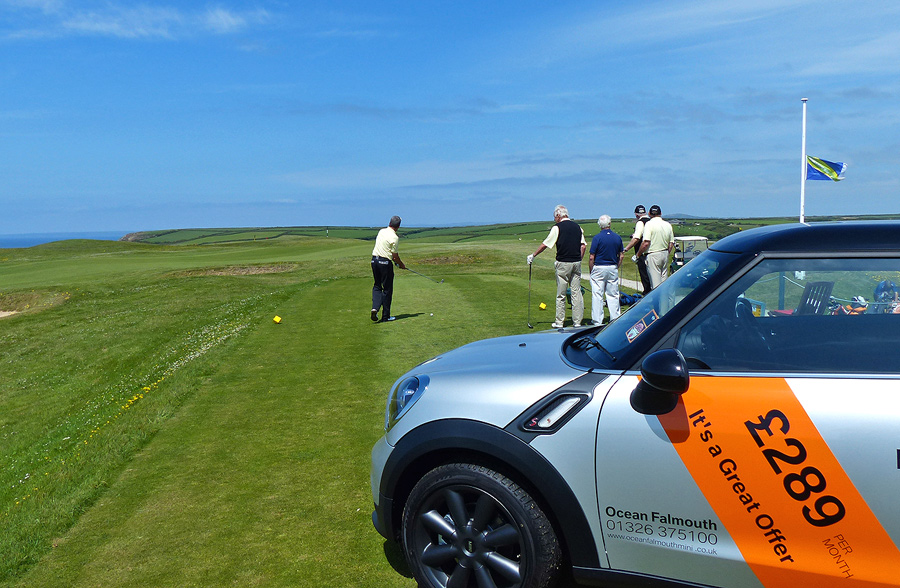 A brand new MINI was the prize to anyone who scored a hole in one from the first tee.