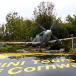 Spitfire, in a garden near Newquay airport.