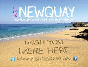 Newquay TIC window banner
