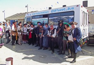 Pirates of st Piran at Newquay Fish Festival